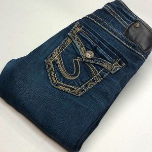 Womens Silver AIKO Jeans FLAP POCKET 25x33 💎